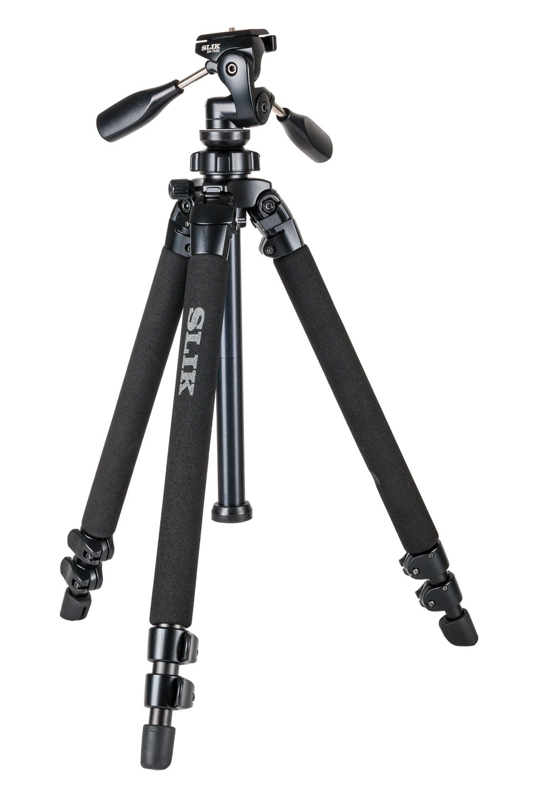 SLIK Pro 400DX Tripod Legs - with 3-Way Pan/Tilt Quick Release Head, Black (615-400) by Slik