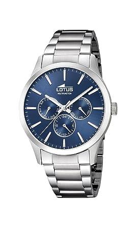 c9a3cbb7fd1a Lotus Watches Reloj Multiesfera para Hombre de Cuarzo con Correa en Acero  Inoxidable 18575 4  Amazon.es  Relojes