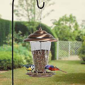 Comedero para pájaros Jardín Exterior Suministro de pájaros Silvestres Comedero para pájaros: Amazon.es: Hogar