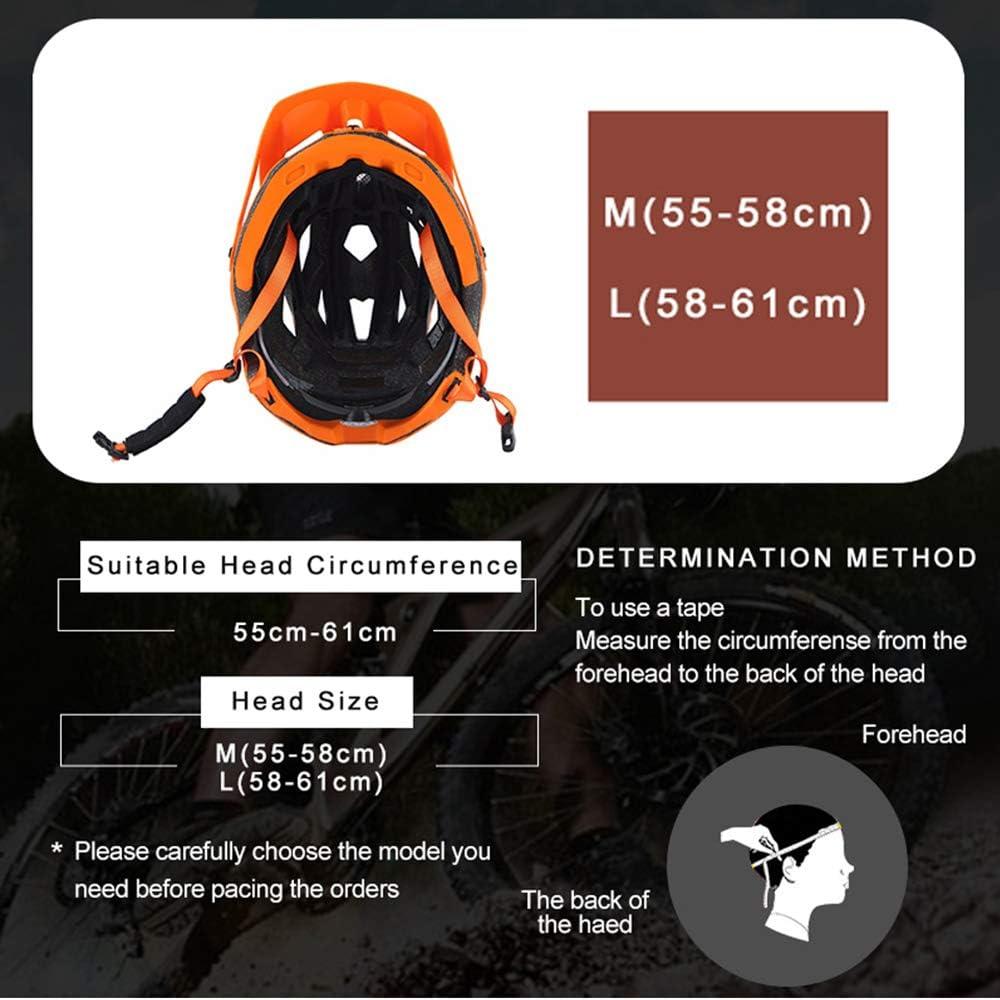 Casque Velo YDHWWSH Casque De Vélo Casque De Vélo in-Mold MTB Bike Helmet Road Mountain Helmets Safety Cap M/l Taille Noir