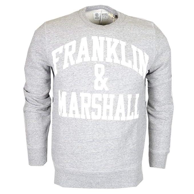 Franklin & Marshall Sudadera para Hombre girogola 4 Colores Art. 061 a Grey Melange S