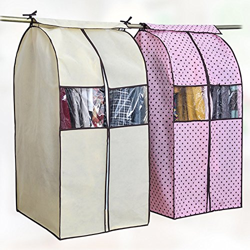 Large Capacity Garment Bag Cloth Hanging Suit Coat Dust Cover Protector Wardrobe Storage Bag