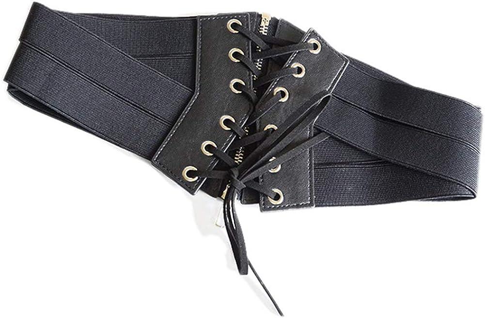 RIsxffp Moda mujer Cinturón de primera calidad elástico cremallera ...