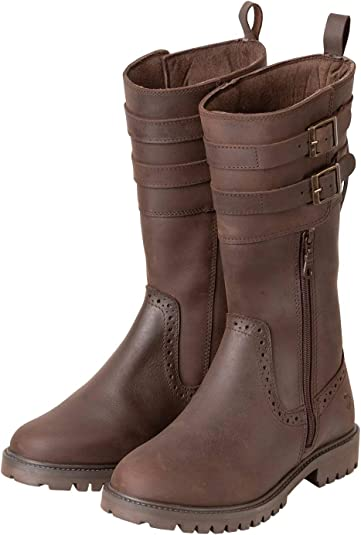 Ladies Leather Boots Mid Length Women's