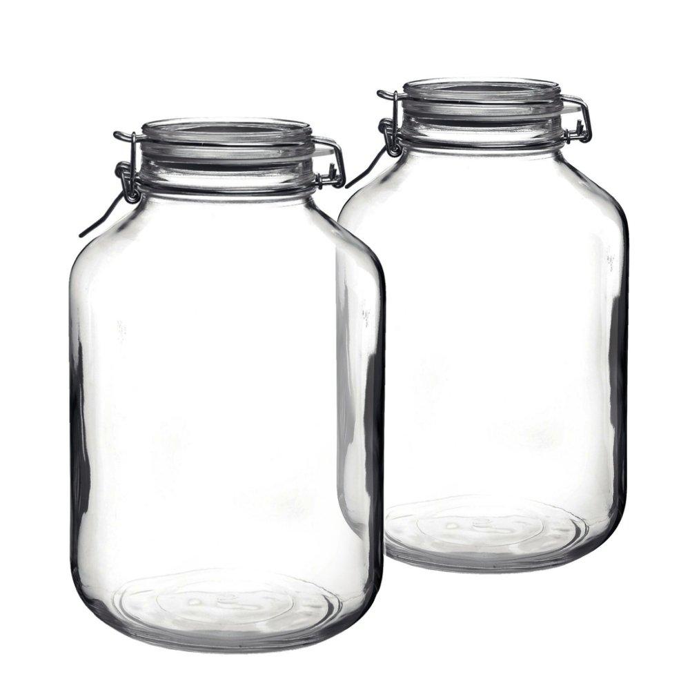 Bormioli Rocco Fido Round Glass Jar, Set of 2