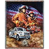 Pure Country Weavers 'Firefighter Blanket' Tapestry Throw