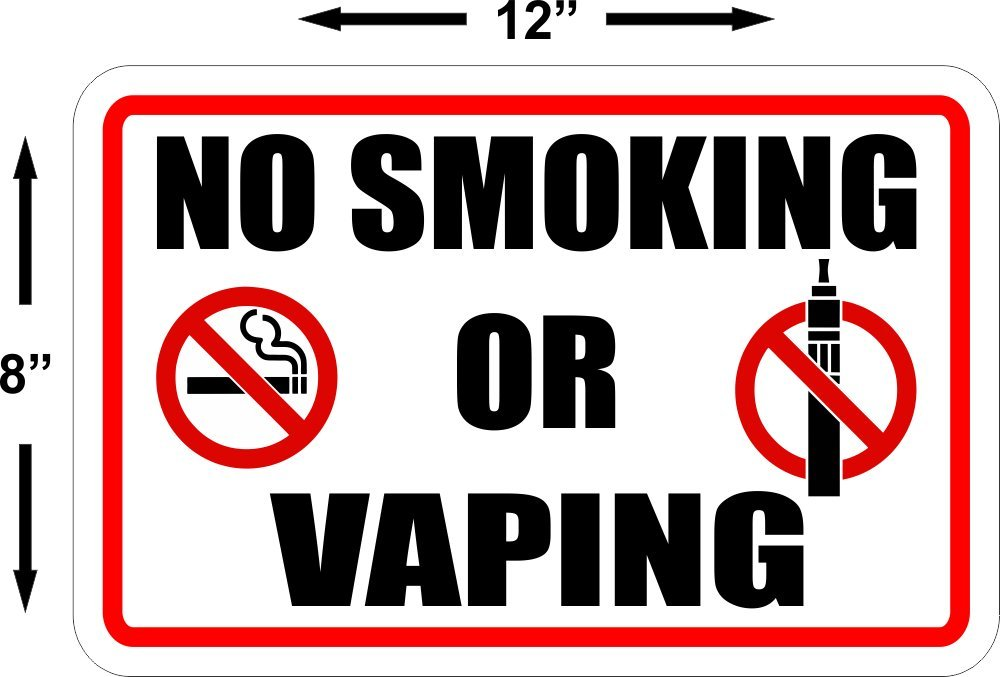 graphic regarding Printable No Smoking Sign titled NO Using tobacco OR VAPING Office Indicator medications cigarettes vapor smoke suggestions signage