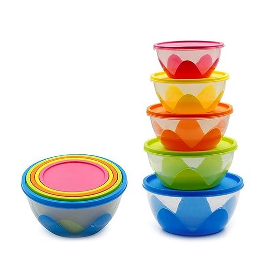 Elezay - Juego de 5 recipientes de plástico para alimentos con ...