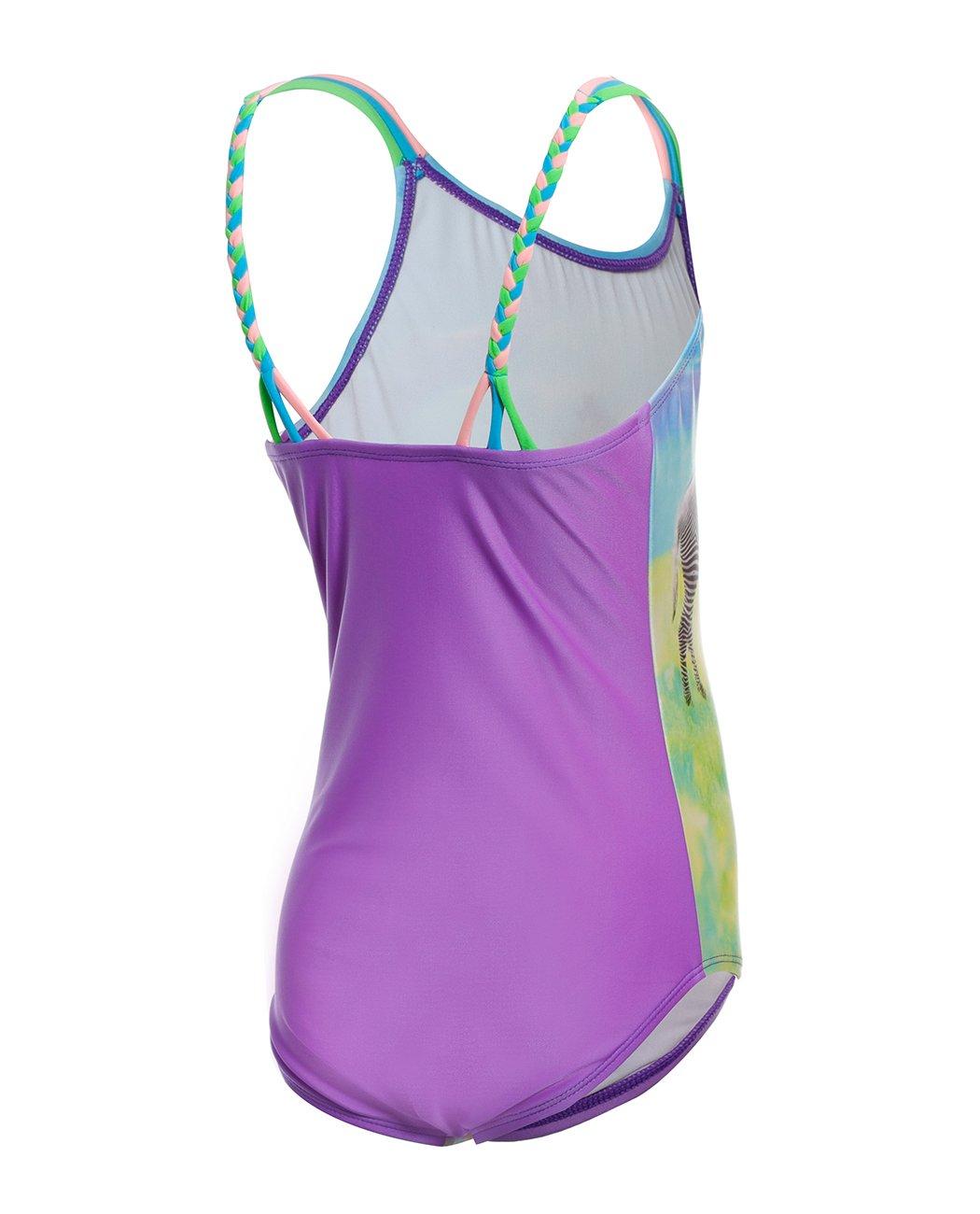 iDrawl Cute Zebra One Piece Beach Sport Swimsuit for Girls by iDrawl (Image #6)