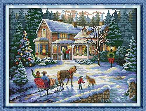 Benway Counted Cross Stitch Kit Return From Christmas Snow 1