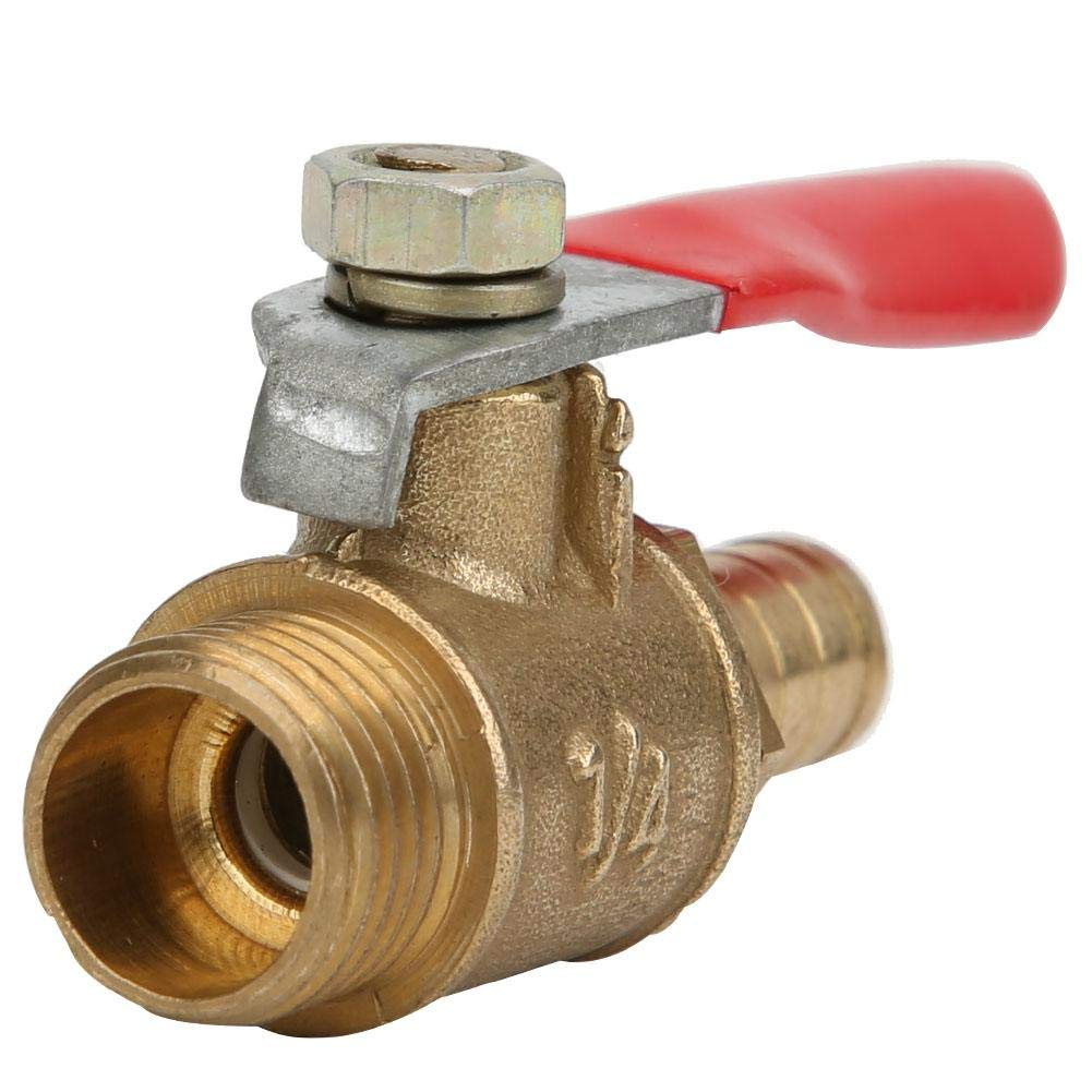 Pipe Fitting Ball Valve Barb Quick Coupling 8mm Pagoda Quick Connect 5 Pcs Brass Ball Valve 1 // 4in PT Ball Valve Male Thread