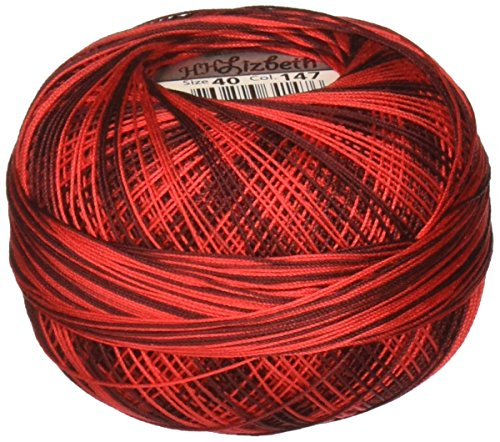 Handy Hands Lizbeth Premium Cotton Thread, Size 40, Red Burst by Handy Hands