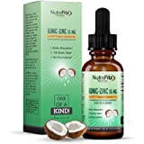 Organic Zinc Sulfate Supplement Vitamins for Adults, Kids, in Liquid MCT Coconut Oil – Pure Ionic Concentrated Mineral Drops