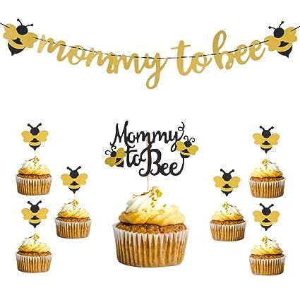 Juego de decoración para tartas con purpurina y abejas ...
