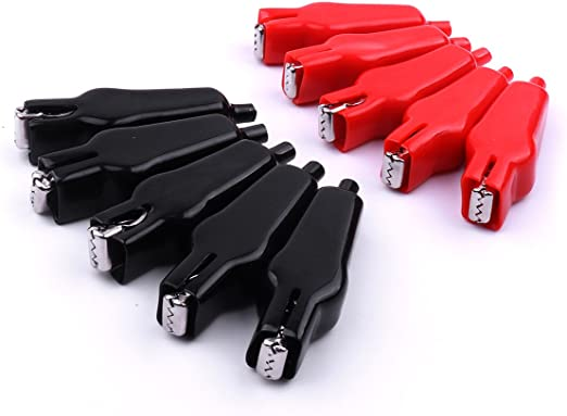 10pcs Alligator Clip Test Lead Assortment Electrical Battery Clamp Connector