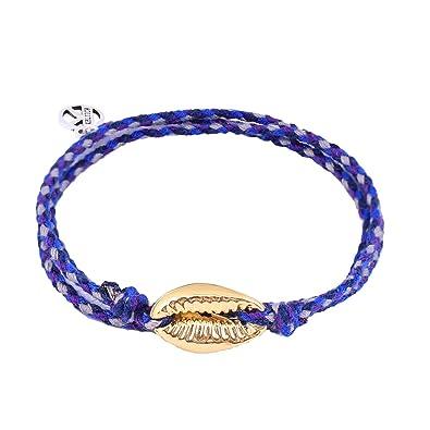 Armband Freundschaftarmband Baumwolle Türkis Verstellbar