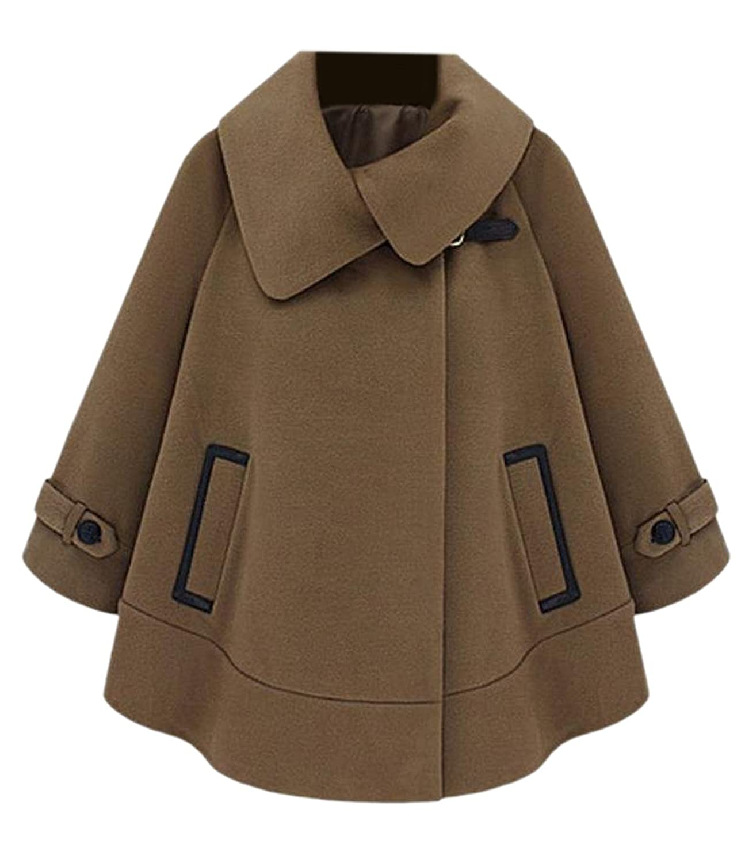 xiaokong Women's New Style Solid Colored Woolen Coat Coat Jacket