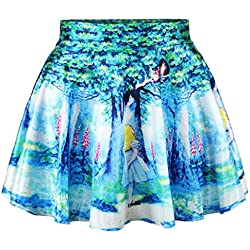 Alice in Wonderland Cheshire Cat Comic Skirt Women's Beauty Pleated Skirt