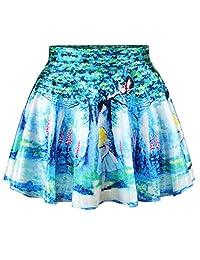 Alice in Wonderland Cheshire Cat Comic Skirt Women's Beauty Pleated Skirt