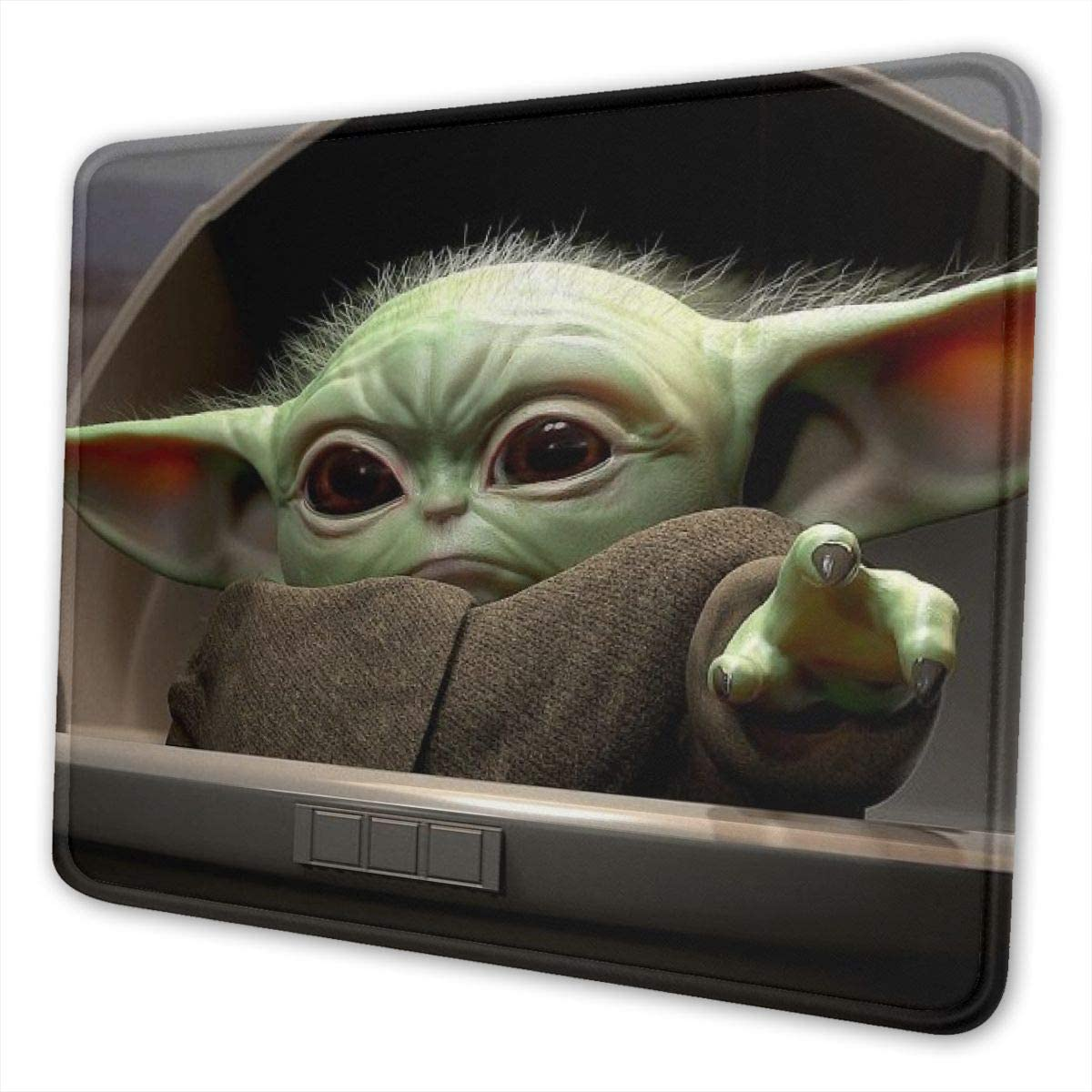 Gaming Laptop BAB-y Yod-a Mouse Pad with Non-Slip Rubber Base Thick Mouse Pad for Computers Office /& Home,Black,10 X 12 Inch