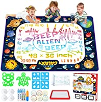 Jasonwell Aqua Magic Doodle Mat Water Drawing Doodling Mat Painting Writing Doodle Board Coloring Mat Educational Toys...