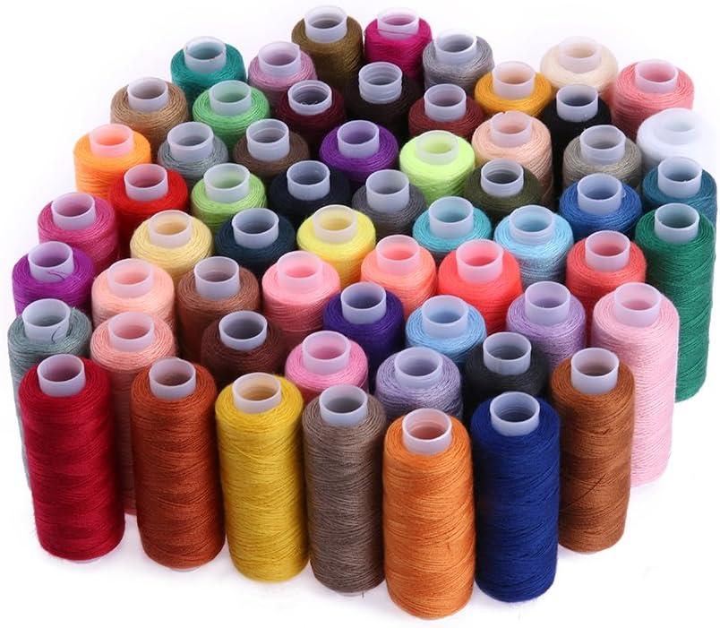 Hilo de coser de algodón, 60 colores, 250 yardas, para máquina de ...