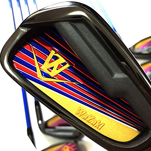 Japan WaZaki Black Finish WL-IIs 4-SW Combo Hybrid Irons USGA R A Rules Golf Club Set + Headcover(pack of 16,Regular Flex) by wazaki (Image #6)