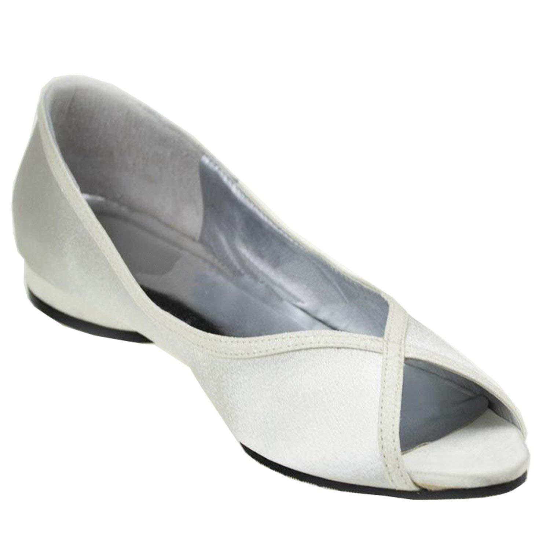 Qiusa Mädchen Peep Toe Toe Toe Block Low Heel Satin Bequeme Hochzeit Schuhe Kleid Sandalen (Farbe   Ivory-3cm Heel Größe   7 UK) 495ede