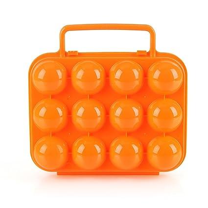 JasCherry Portátil plegable Caja de Huevos - Camping y Picnic al Aire Libre Jardín de Plástico