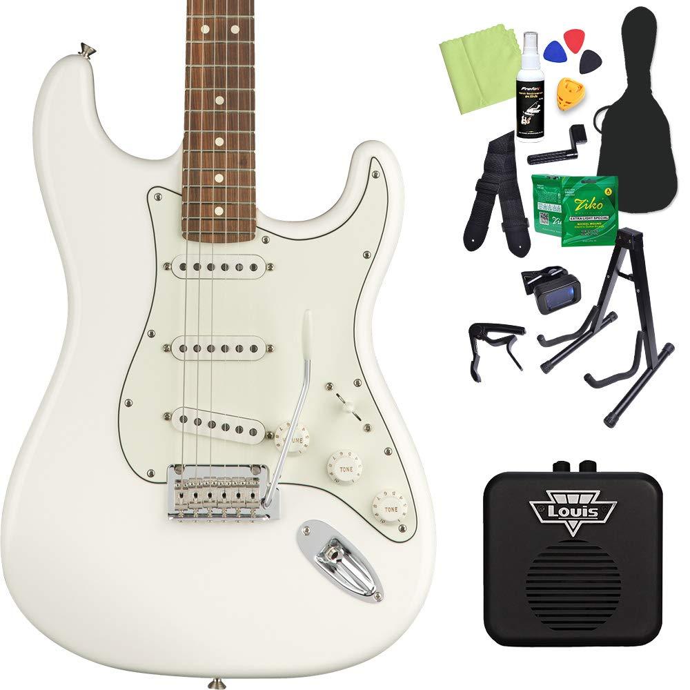 Fender Player Stratocaster Pau Ferro Polar White エレキギター 初心者14点セット 【ミニアンプ付き】 フェンダー   B07H4FV435