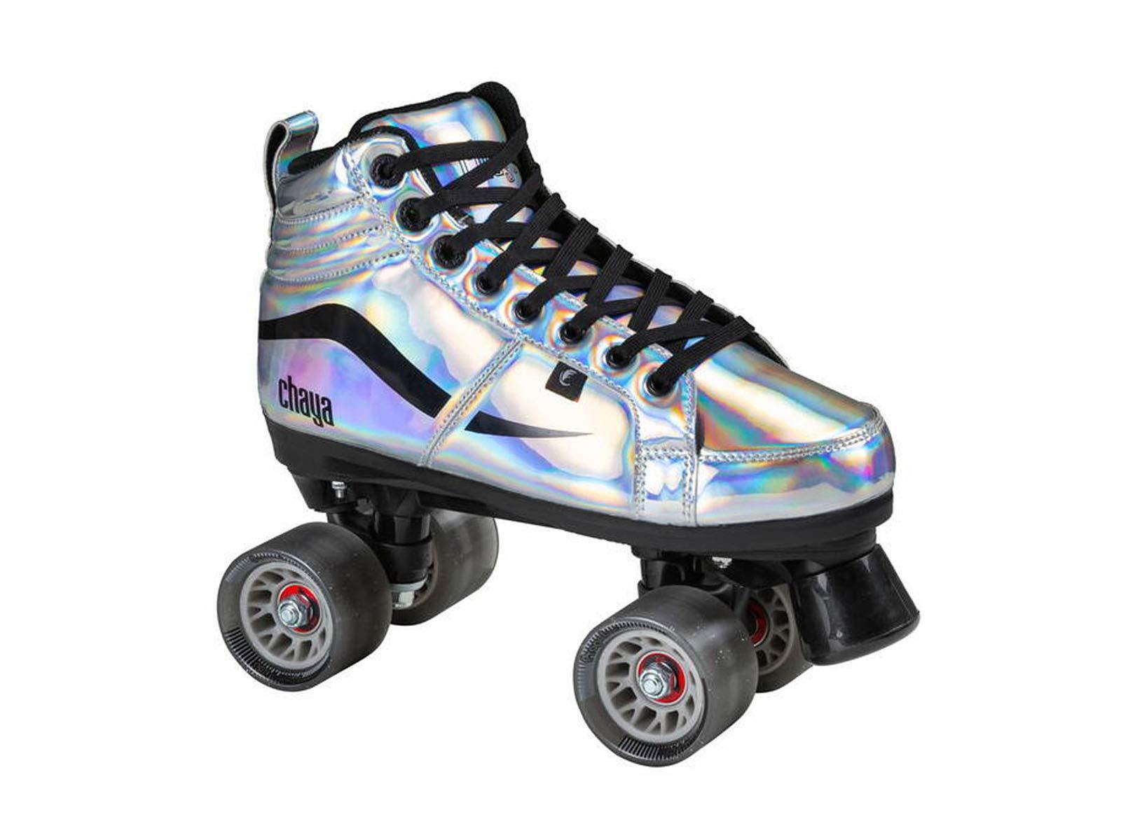 Chaya New Vintage Glide Chrome Quad Roller Skates - Vegan (Euro 39 / US 8)