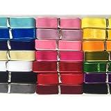 "Chenkou Craft 20 Yards 5/8"" Velvet Ribbon Total 20 Colors Assorted Lots Bulk"