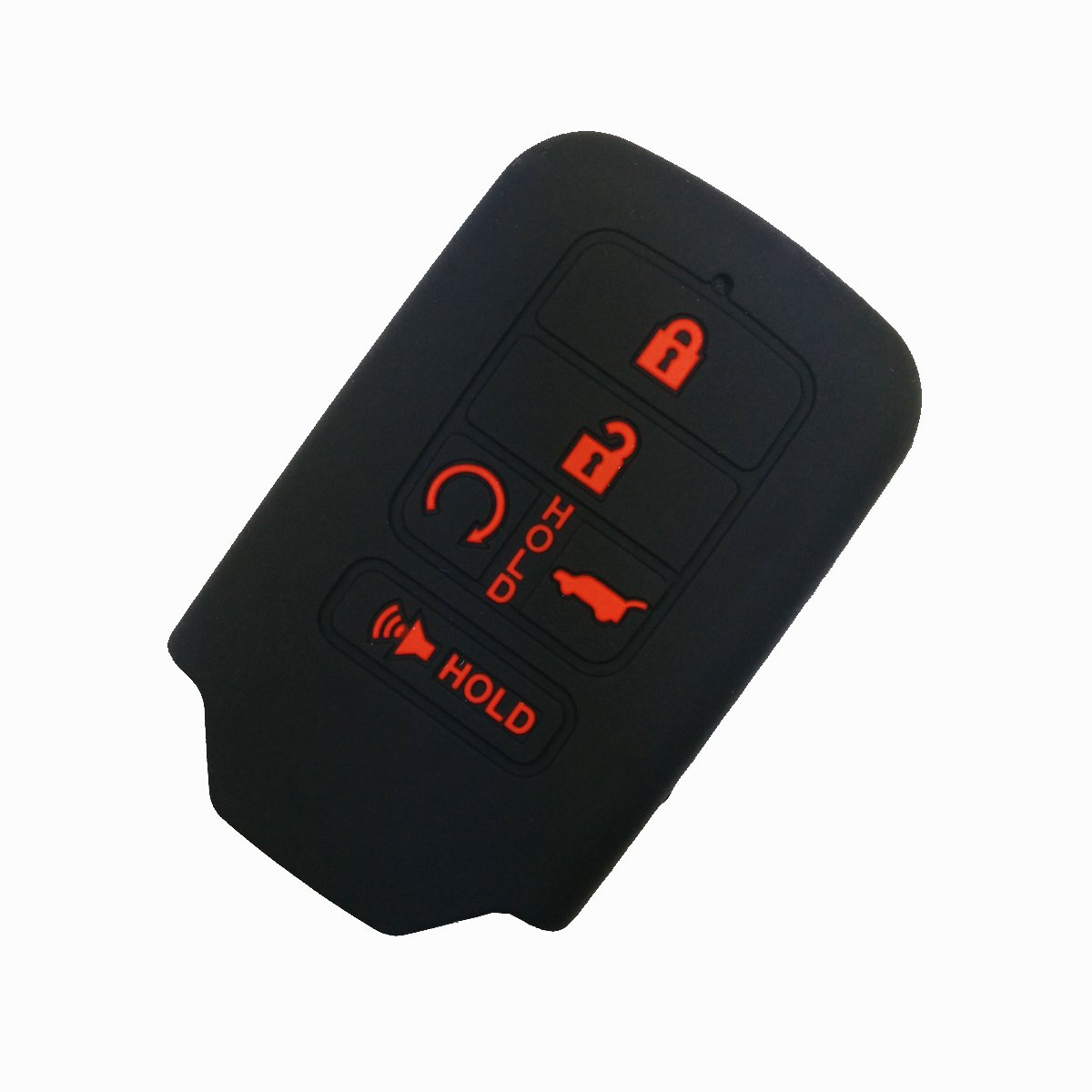 Coolbestda for 2018 2019 2020 Wrangler JL Gladiator JT 68292944AA Flip 4buttons Silicone Key Fob Remote Case Protector Holder Skin Jacket Accessories 2Pcs