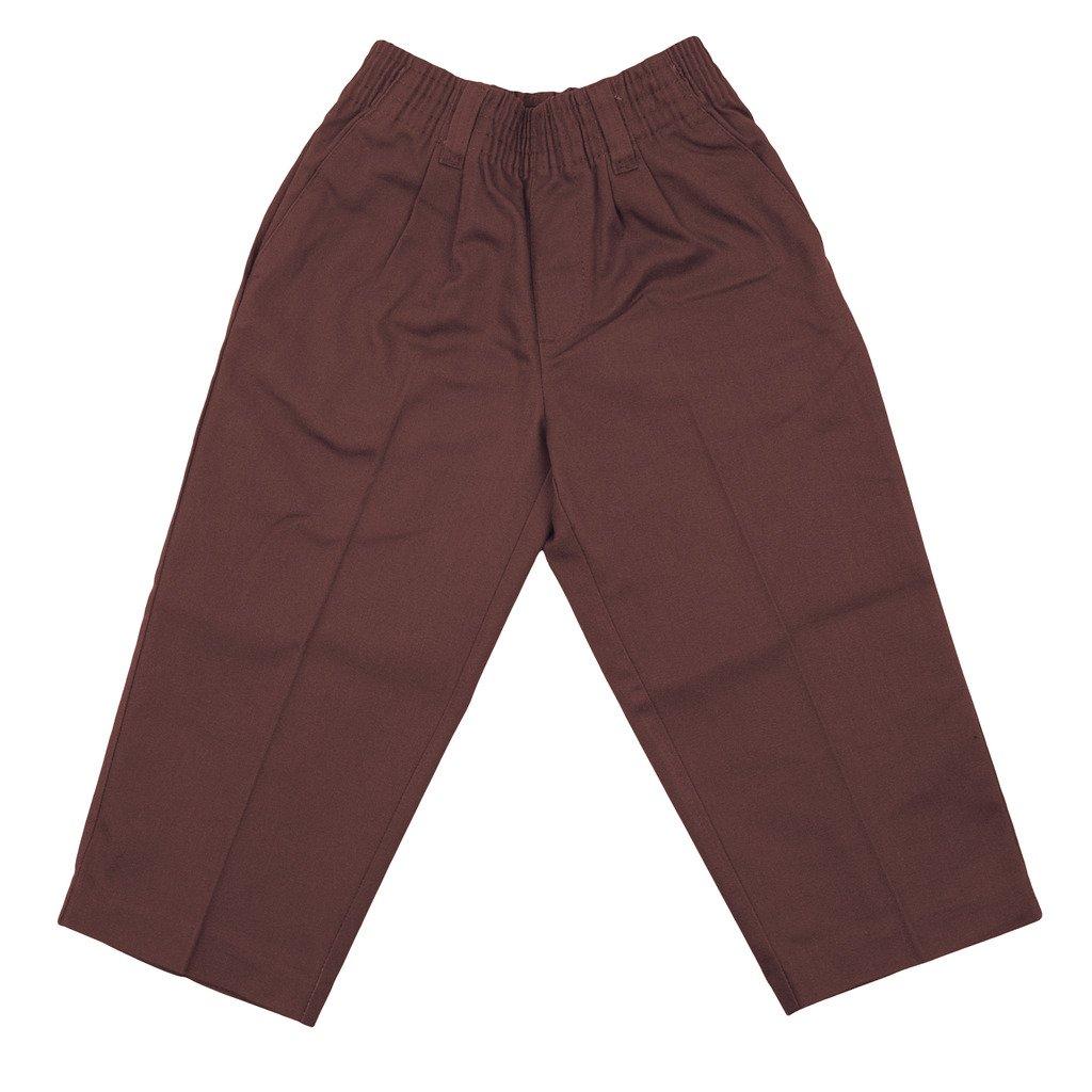 Universal School Uniforms Boys Pleated Pant 2T Brown