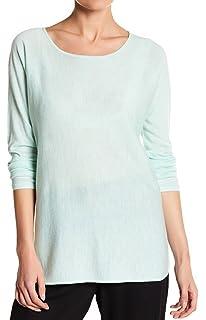 Eileen Fisher White Signature LIGHTWEIGHT VISCOSE JERSEY Jewel Neck Tunic Top