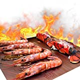 WareExpert Grill Mat | Set of 5 | Non-Stick Grilling Mats Copper Cookware & Bakeware | Reusable and Easy to Clean | PFOA Free | Perfect for gas, charcoal, infrared and electric grills
