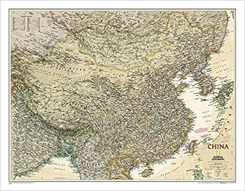 National Geographic Map Of China.National Geographic China Executive Wall Map 30 25 X 23 5 Inches