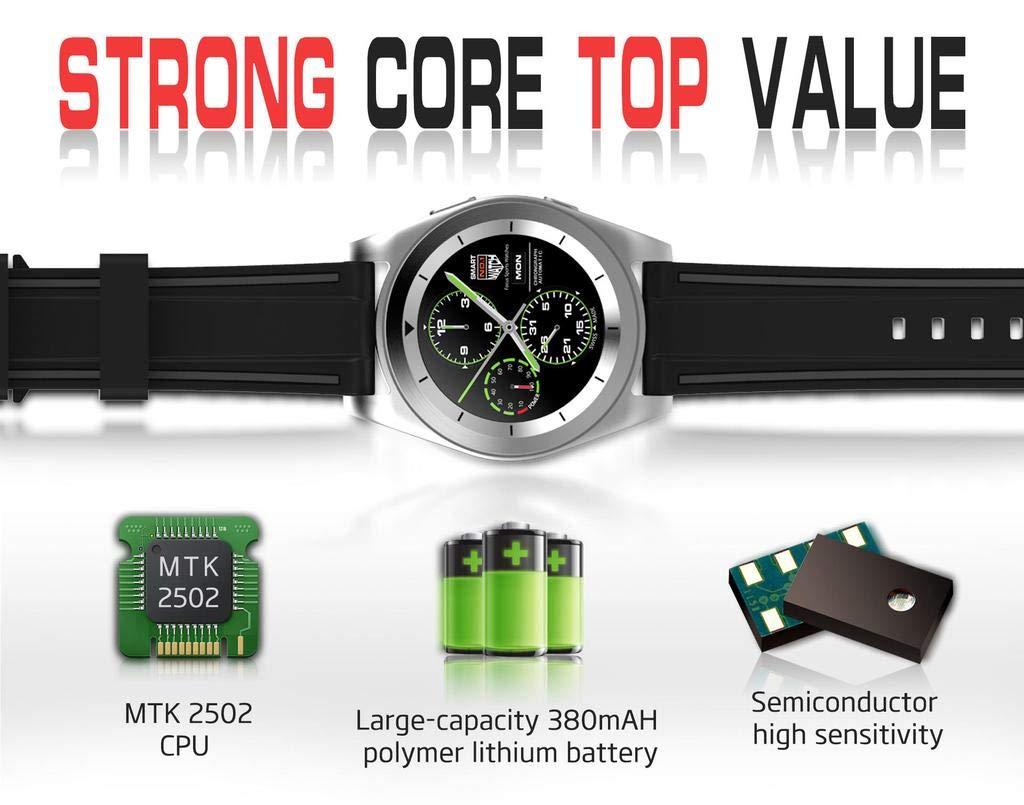 Amazon.com: FAIYIWO NO.1 G6 Bluetooth Smart Watch Heart Rate ...