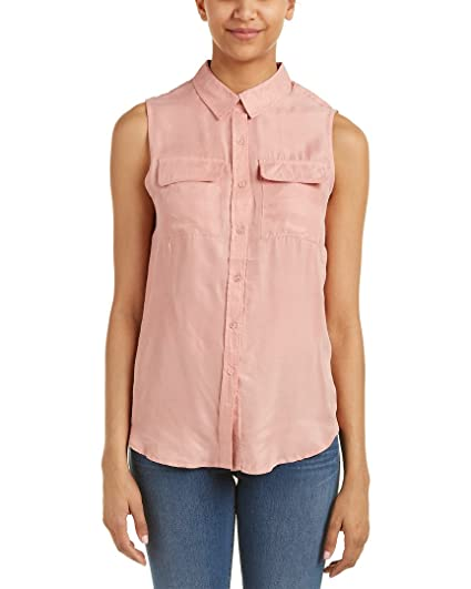 e576ae5717 Romeo   Juliet Couture Women s Sleeveless Button-up Shirt Blush Small at Amazon  Women s Clothing store