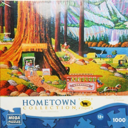 HOMETOWN COLLECTION Yosemite Camping 1000 Piece Puzzle, Camping Jigsaw Puzzle, Outdoor Activity And National Parks Puzzles, Camp Games Kids And Adults Love