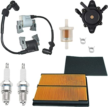 Amazon.com: Euros Left Right Side Ignition Coil + 17210-ZJ1-841 Air Pre  Filter + 16700-Z0J-003 Fuel Pump for Honda GX610 GX620 & GX670 18HP 20HP  24HP GX610KS GX620K1 V-Twin Engine: Garden & Outdoor | Gx610 Fuel Filter |  | Amazon.com