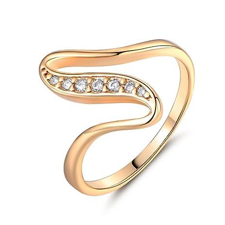 sirimongkol stunning wedding ring 18k gold filled round crystal cz rings for women sz5 9 - Prettiest Wedding Rings