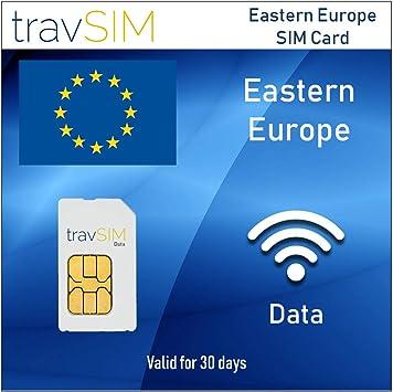 travSIM - Tarjeta SIM de Datos Prepagos para Europa del Este: Amazon.es: Electrónica