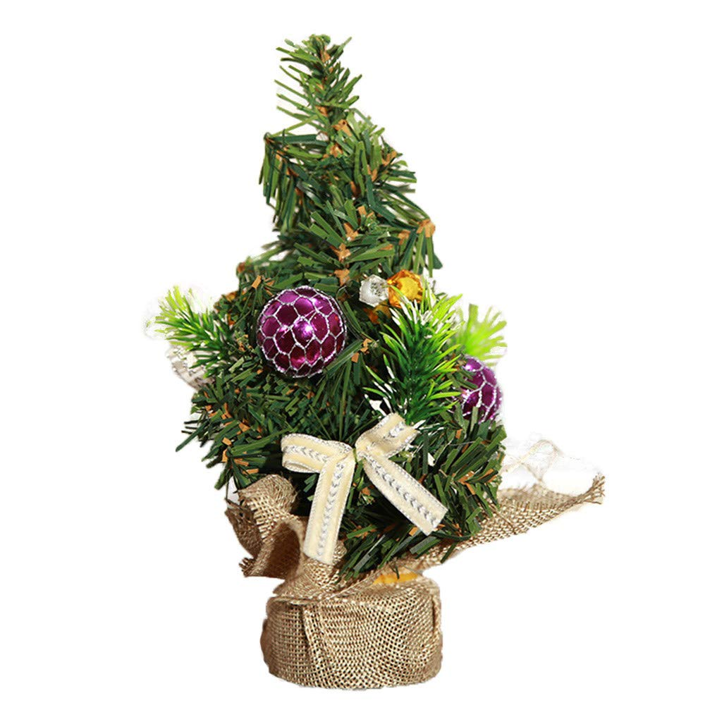 iumei Merry Christmas Tree Bedroom Desk Decoration Mini Xmas Tree Gift Toy Doll Office Children Party Decor Home Charm Decorations (C)