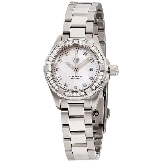 Tag Heuer WBD1415.BA0741 - Reloj de pulsera para mujer con esfera de nácar y diamantes blancos: Amazon.es: Relojes