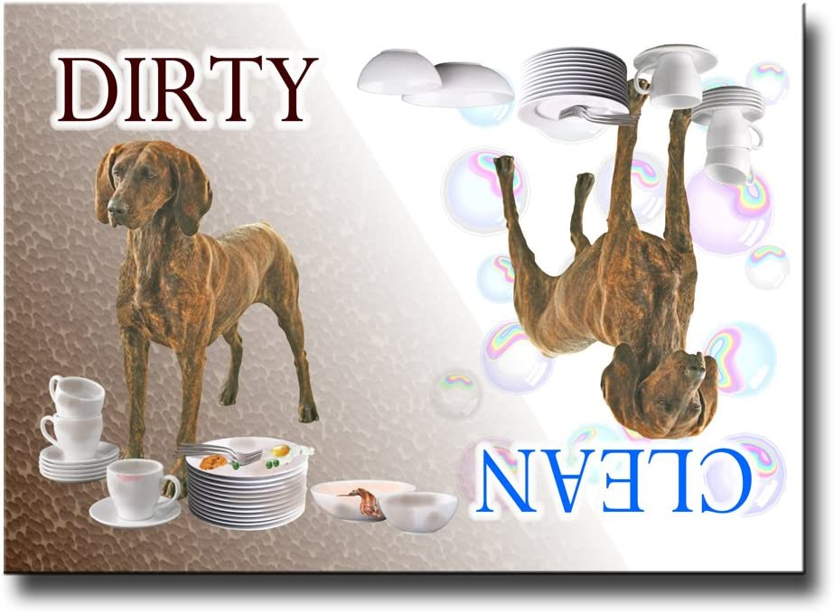 Plott Hound Clean Dirty Dishwasher Magnet