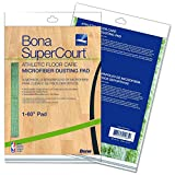 Bona AX0003500 Super Court Athletic Floor Care Microfiber Dusting Pad, 60'' Diameter, Green