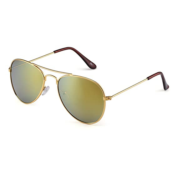 202c84fb4d9f Kids Mirror Aviator Sunglasses Flash Tinted Children Glasses Girls Boys Age  3-12 (Gold