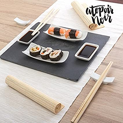 CEXPRESS - Set de Sushi con Bandeja de Pizarra Atopoir Noir (11 piezas)