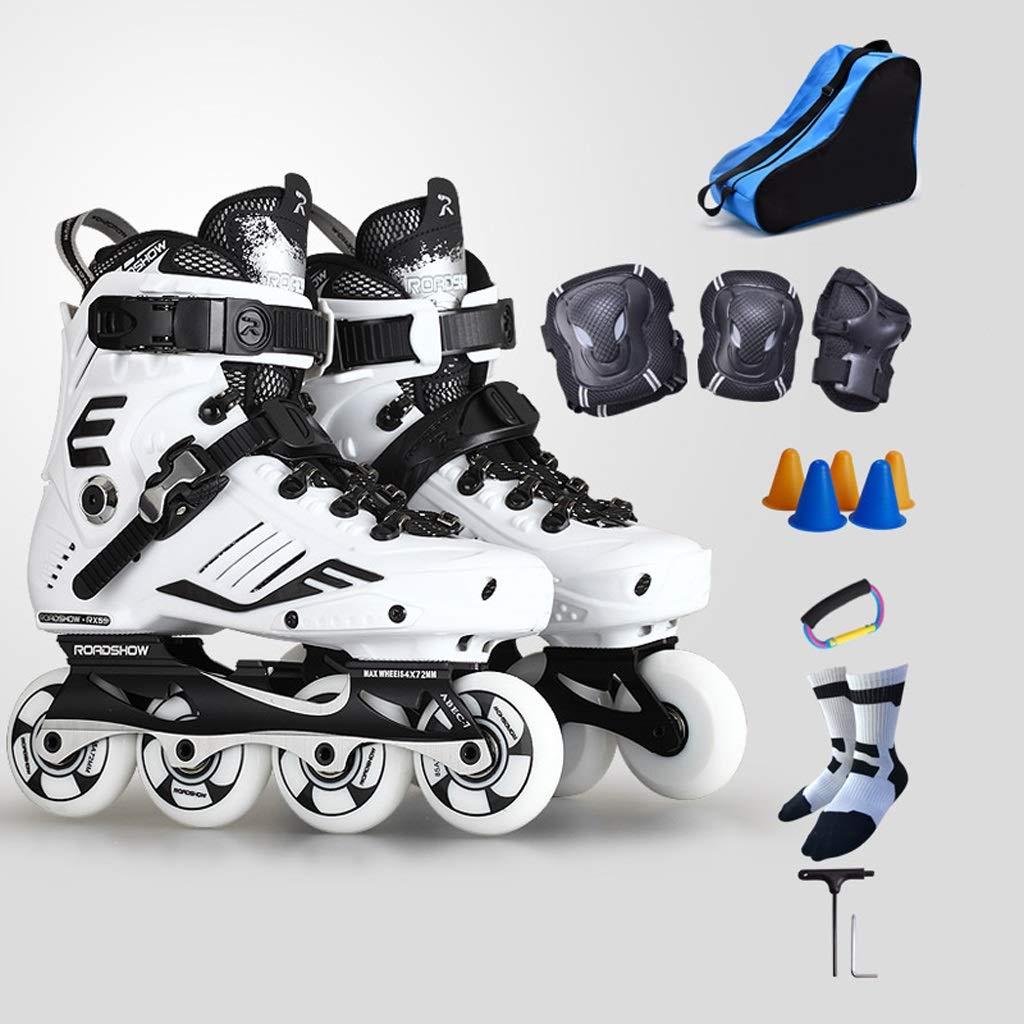 大人のインラインスケート、初心者のために適した専門の豪華なローラースケート、35-44ヤード (色 : B, サイズ さいず : EU 38/US 6/UK 5/JP 24cm) B EU 38/US 6/UK 5/JP 24cm